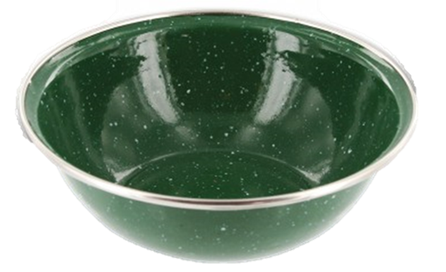 Enamel Bowl - Green Pack of 6