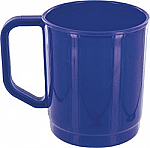 345ml Polypropylene Mugs in Mid Blue- Pack 6