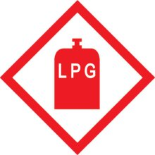 LPG Sticker 100x100mm