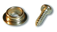 Awning skirt studs and screws