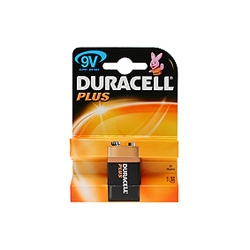 Duracell Plus PP3 Cell Batteries 9.0V Box of 10