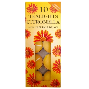 Prices Citronella T-Lights ( Pack of 10 individual tea lights)