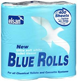 Elsan Blue Toilet Rolls 4 in a  Pack x 10
