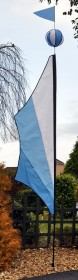 Festival Banner Pole, Flag & Ball Pack Cool Blue