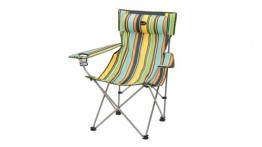 E/Camp Dunes lightweight stripe chair with headrest