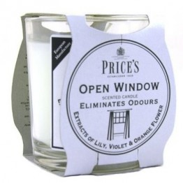 Open window candle Jar