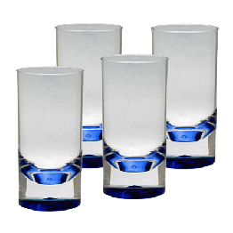 Coloured Tumblers - Pack of 4 (Blue)