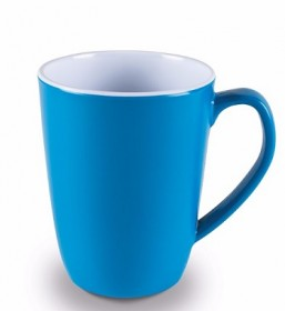 Melamine Mugs Pk of 4 Vivid Blue