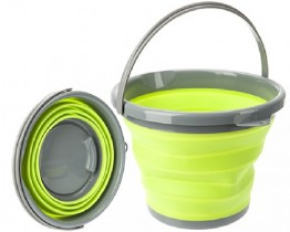 Collapsible 10 Litre  Bucket - Lime Green