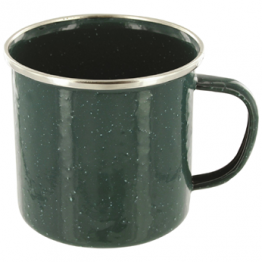 Enamel Mug - Green Pack of 6