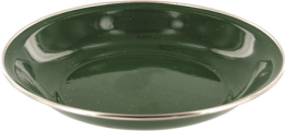 Enamel Plate - Green Pack of 6