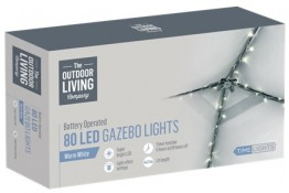 80 LED Gazebo Lights - Warm White