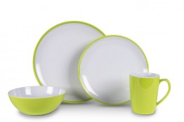 Melamine Dinner Plates CDU of 24 Citrus Green