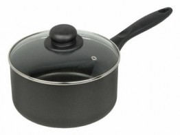 Non Stick 16 cm Saucepan with glass lid