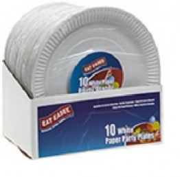 "Pack of 10 Paper Plates 11.5"" in CDU of 24"