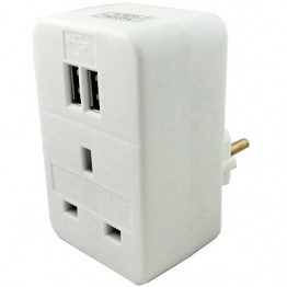 European Plug Adaptor with usb ports