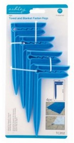 Towell & Blanket Fixing pegs Pack of 4
