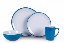 Melamine Dinner Plates CDU of 24 Vivid Blue
