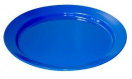 25cm Mid Blue Plate ( Pack of 6) Polyproylene