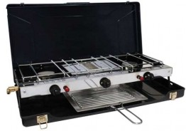 Twin Burner and Grill