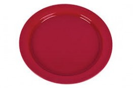 25cm Raspberry Plate ( Pack of 6) Polyproylene