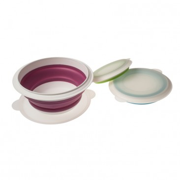 Collapsible Bowl Set with lids