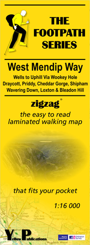 Yellow Map ZigZag - West Mendip Way