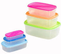 Chef Aid 6 Rectangular Storage Containers