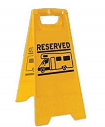 Reserved Sign Board for Motorhomes