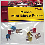Mini Blade Fuses - Mixed Pack of 8 Fuses