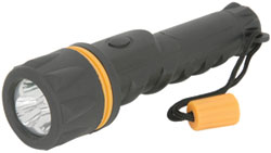 Heavy Duty LED Rubber Torch-2 x D Type Batteries