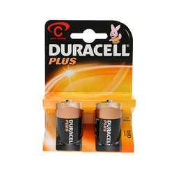 Duracell Plus C Cell Batteries 1.5V