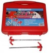 Hard Ground Drill/Screw Pegs Box of 20 in hard carry case