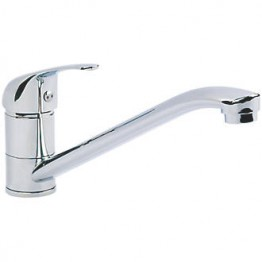 Chrome Metal Single Lever Long Reach Mixer Tap - Non Microswitched