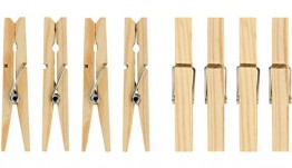 Wooden Clothes Pegs - Box of 40 packs