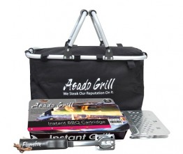 BBQ Coolbag & Hamper Kit includes Instant BBQ & Tool