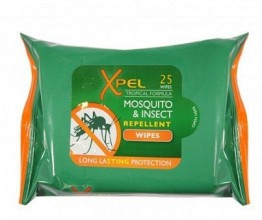 Xpel Mosquito Repellant Wipes 25 in a Pack - Box of 24