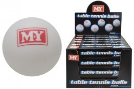 CDU of 24 Packs of 6 Table Tennis Balls