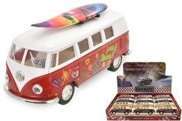VW 1962 Classic Camper with Surf Board CDU of 12