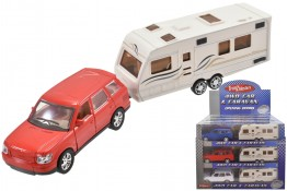Car and Caravan Die Cast and Plastic Toy CDU of 12