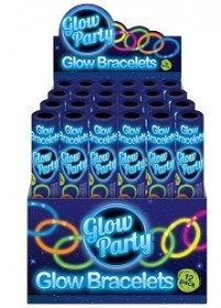 12 Piece Glow Bracelet in Colour Tube in CDU of 24