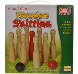 Large Wooden Skittles in Colour Box