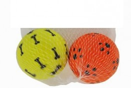 Pet Rubber Balls  2Pk