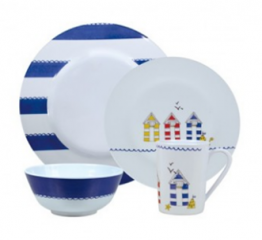 Seashore 16 Piece Melamine Dining Set