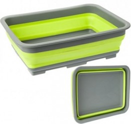 Collapsible Washing Up Basin - Lime Green