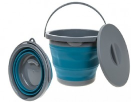 Collapsible 5L Bucket with lid - Blue