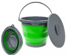 Collapsible 5L Bucket with lid - Lime Green