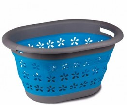 Collapsible Laundry Basket - Blue