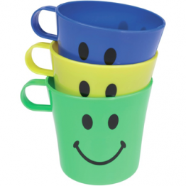 Smiley Face Cups - 3 Pack