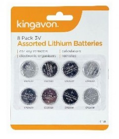 8 Pack of  3V Assorted Lithium Batteries